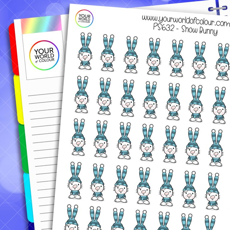 Snow Bunny Planner Stickers