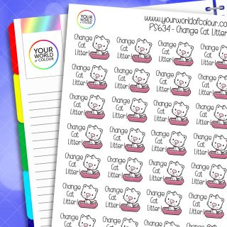 Change Cat Litter Planner Stickers