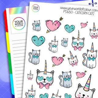 Cat-i-corn Planner Sticker