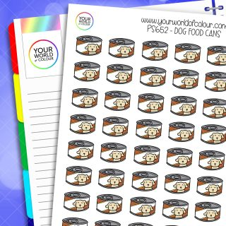 Dog Food Can Planner Stickers