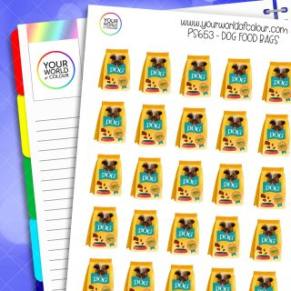 Dog Food Bag Planner Stickers