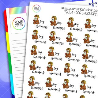 Dog Groomers Planner Stickers