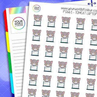 Tomcat Laptop Planner Stickers