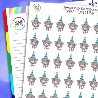 Tomcat Party Planner Stickers