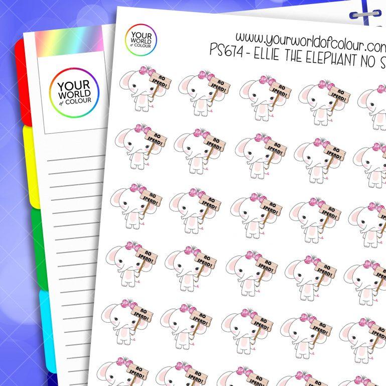 Ellie No Spend Planner Stickers
