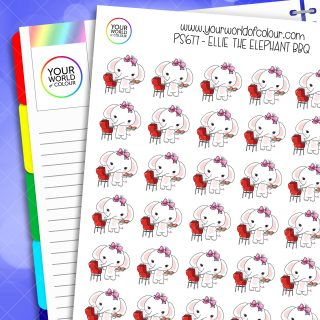 Ellie BBQ Planner Stickers