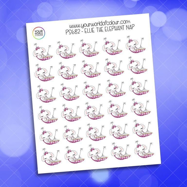 Ellie Nap Planner Sticker