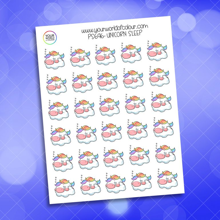 Sleepy Unicorn Planner Sticker