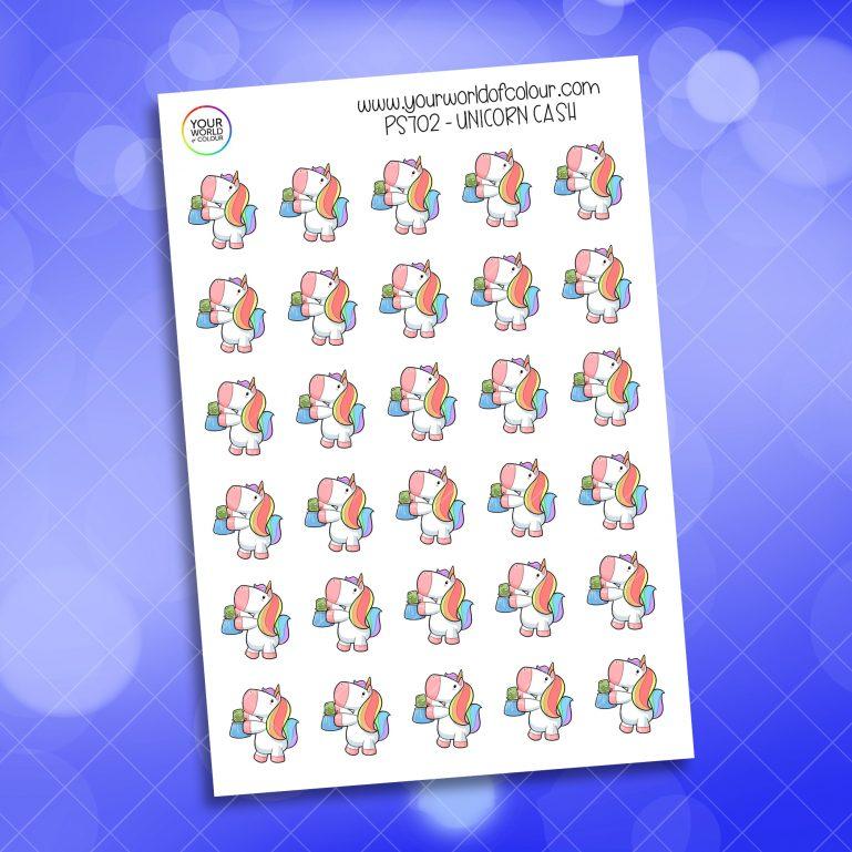 Cash Unicorn Planner Sticker