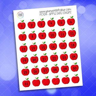 Apple Date Cover Planner Sticker