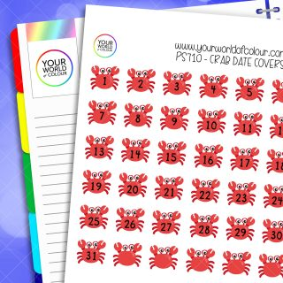 Crab Date Cover Planner Stickers
