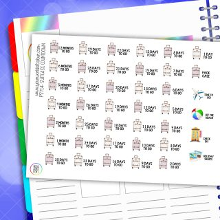 Suitcase Countdown Planner Stickers