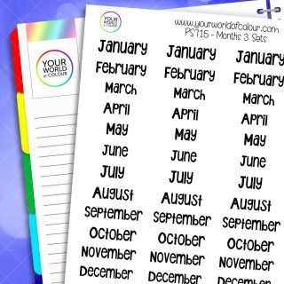 Month Planner Stickers