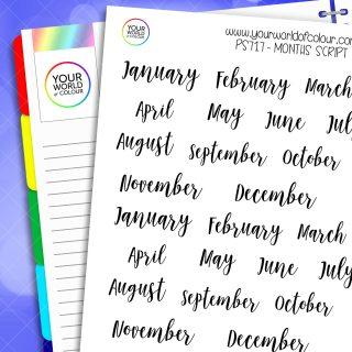 Script Month Planner Stickers