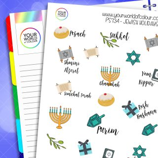Jewish Holidays Planner Stickers