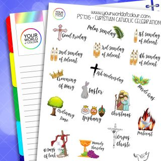 Christian And Catholic Celebration Planner Stickers