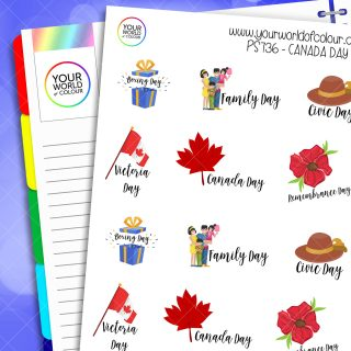 Canada Day Planner Stickers