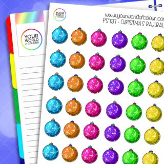 Christmas Baulball Planner Stickers
