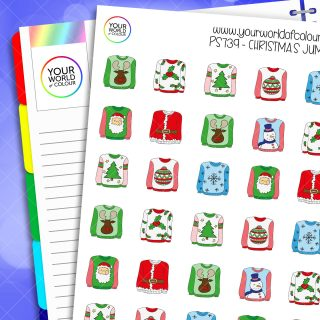 Christmas Jumper Planner Stickers