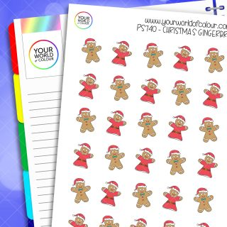 Christmas Gingerbread Planner Stickers