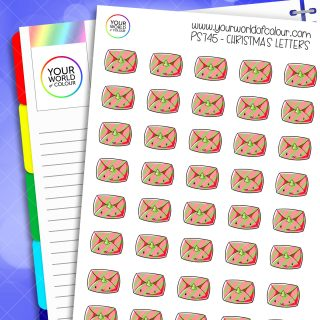Christmas Letters Planner Stickers
