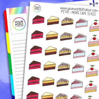 More Cake Slices Planner Stickers