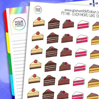 Even More Cake Slices Planner Stickers