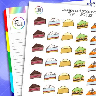Cake Slice Planner Stickers