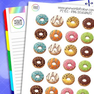 Ring Doughnuts Planner Stickers