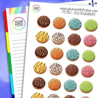 Iced Doughnuts Planner Stickers