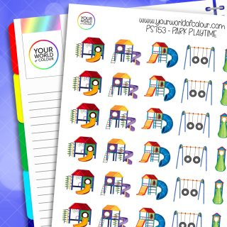 Park Playtime Planner Stickers