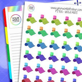 Yoga Mats Planner Stickers