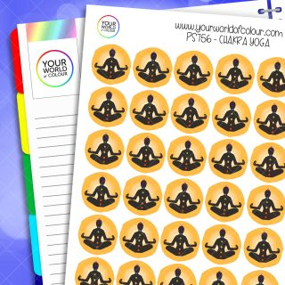 Chakra Yoga Planner Stickers