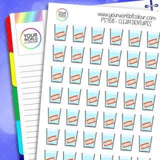 Clean Dentures Planner Stickers