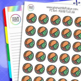 Kebab Flatlay Planner Stickers