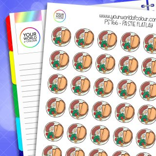 Pastie Flatlay Planner Stickers