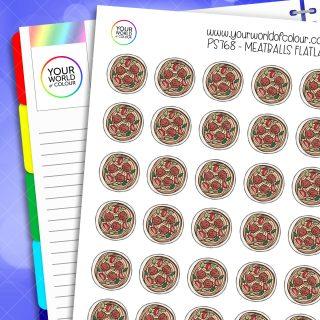 Meatballs Flatlay Planner Stickers