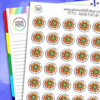 Nacho Flatlay Planner Stickers