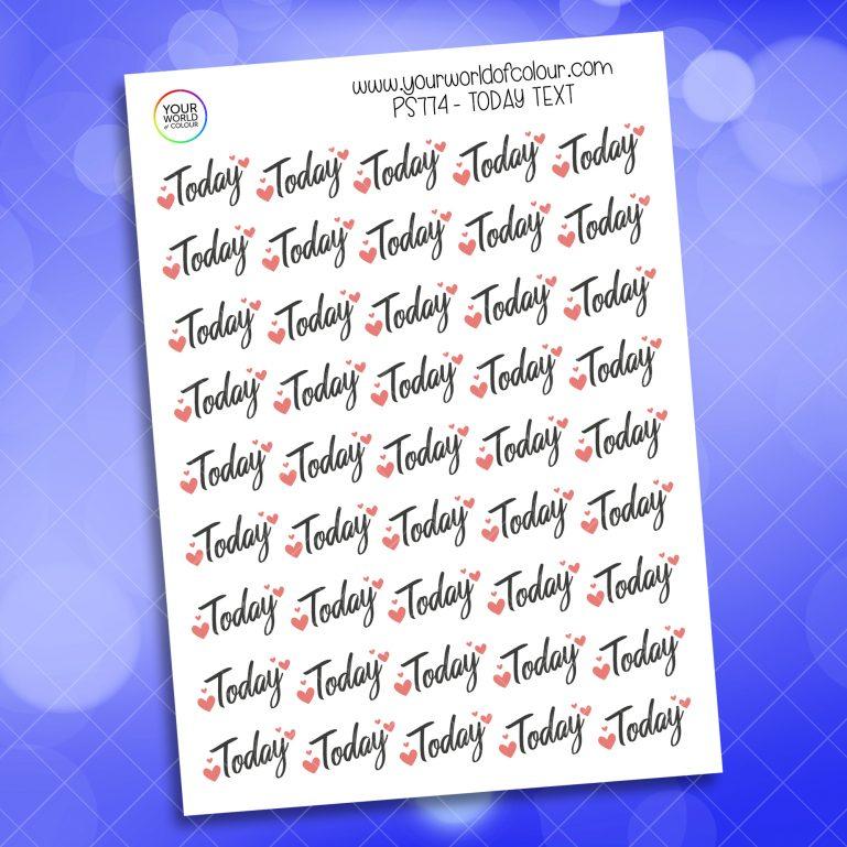 Today Planner Sticker
