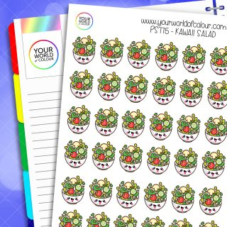 Kawaii Salad Planner Stickers