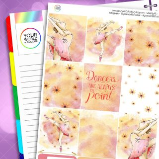 Ballet Erin Condren Weekly Planner Sticker Kit