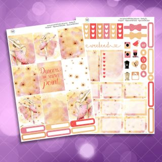 Ballet Two Sheet Weekly Planner Sticker Kit