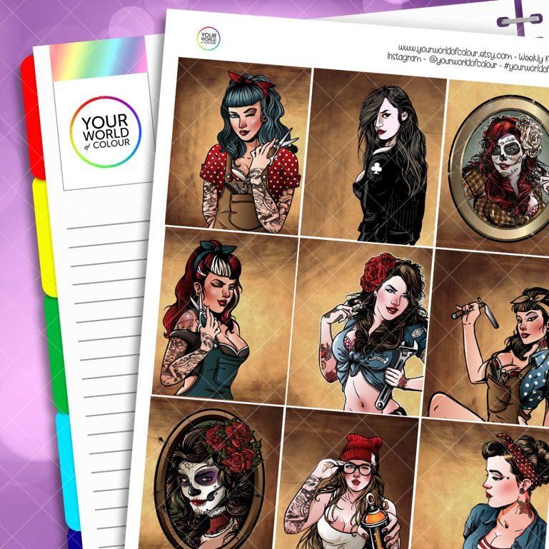 Bad Girls Erin Condren Weekly Planner Sticker Kit