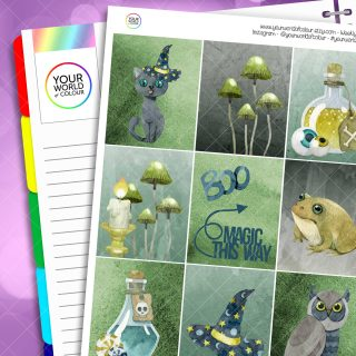 Magic This Way Erin Condren Weekly Planner Sticker Kit