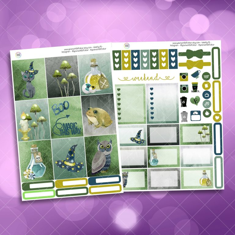 Magic This Way Two Sheet Weekly Planner Sticker Kit