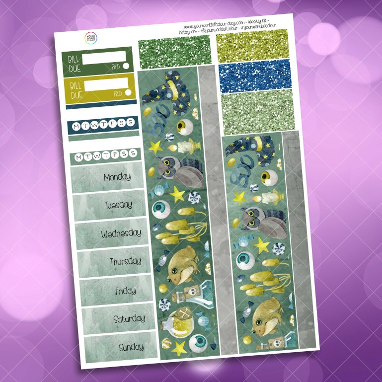 Magic This Way Washi and Date Cover Stickers