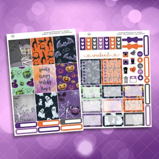 Creepy Two Sheet Weekly Planner Sticker Kit