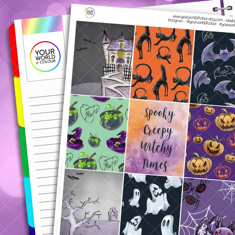 Creepy Erin Condren Weekly Planner Sticker Kit