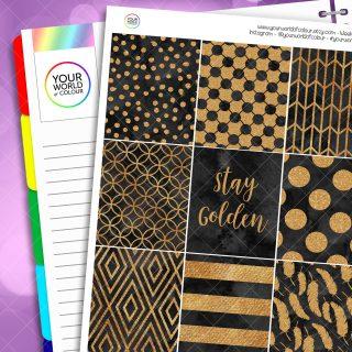 Stay Golden Erin Condren Weekly Planner Sticker Kit