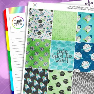 Out Of This World Erin Condren Weekly Planner Sticker Kit